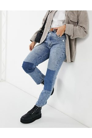 Abercrombie & Fitch Patchwork jean in mid wash
