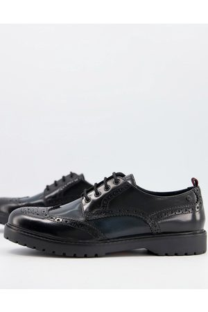 Base London Riddle brogues in hi shine combo