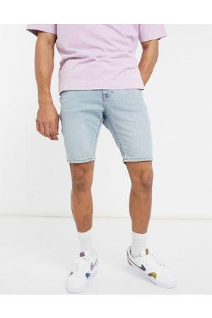 ASOS Skinny denim shorts in vintage light tint