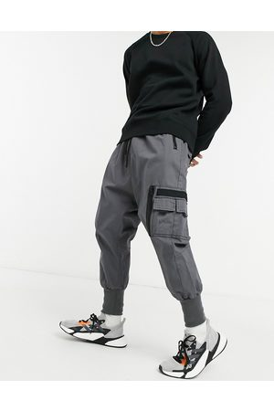 ASOS Drop crotch trousers with MA1 pocket and jersey cuff