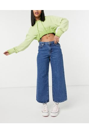 Only Sonny cropped wide leg jeans in medium
