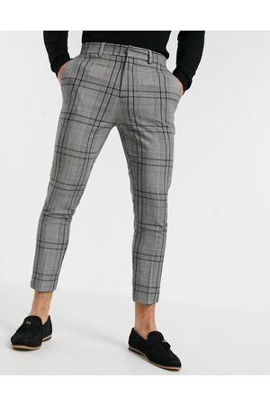 New Look Skinny cropped smart trousers in check