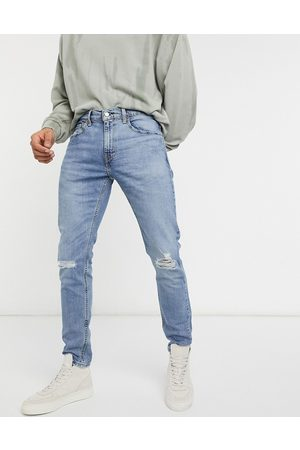 Levis Levi's Youth 512 slim tapered lo ball distressed jeans in dolf metal advanced mid wash