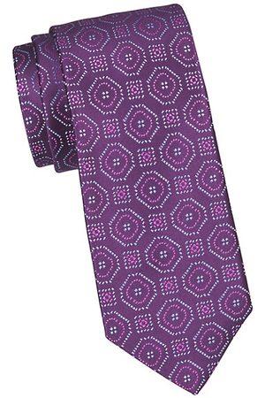 Charvet Large Scale Deco Silk Tie