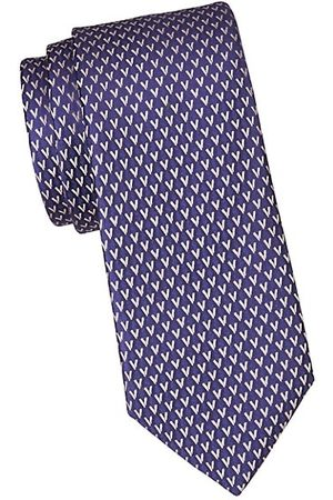 Charvet Neat Allover V Silk Tie
