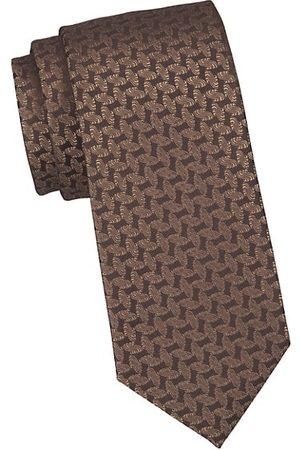 Charvet Solid Geometric Silk Tie