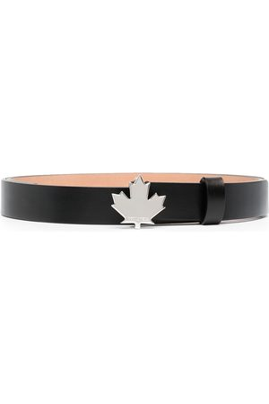 Dsquared2 Women Belts - Maple-Leaf leather belt