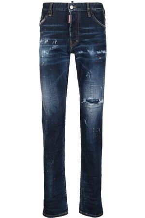 Dsquared2 Men Straight - Ripped straight-leg jeans