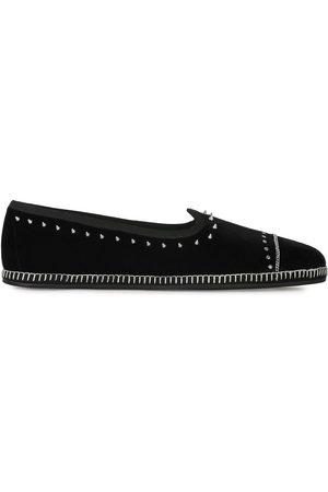 Giuseppe Zanotti Men Loafers - Studded velvet loafers