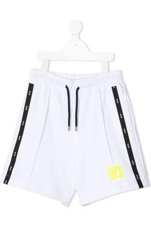 Msgm Boys Shorts - Logo stripe track shorts