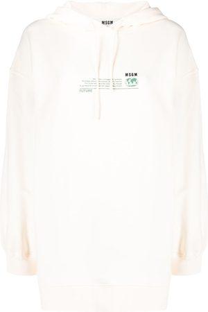 Msgm Graphic-print drawstring hoodie