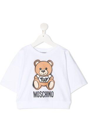 Moschino Girls Short Sleeve - Signature teddy print t-shirt
