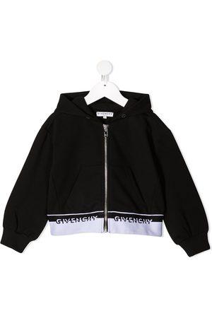 Givenchy Logo-trim zipped hoodie