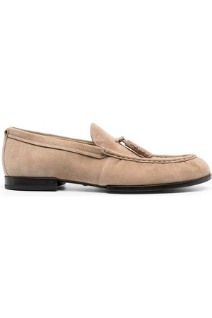 Tod's Tassel trim suede loafers