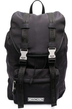 Moschino Logo buckle backpack