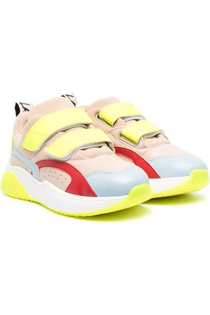 Stella McCartney Girls Sneakers - Panelled touch-strap sneakers
