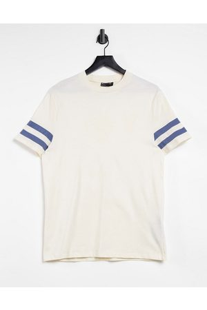 ASOS T-shirt with contrast sleeve stripe