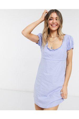 Cotton On Woven ruffle edge mini dress in