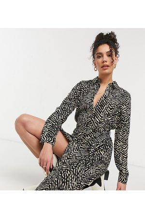 Vero Moda Midi shirt dress in animal print
