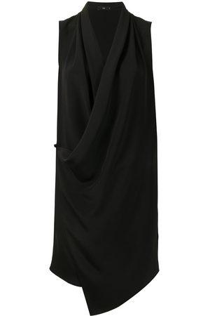 Voz Draped sleeveless mini dress