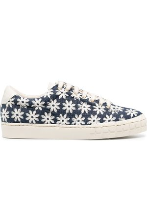 Zespà Daisy-print lace-up trainers