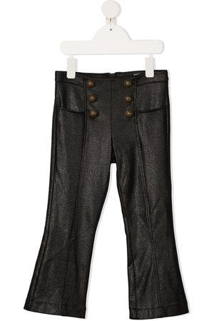 Balmain Glitter detail flared trousers
