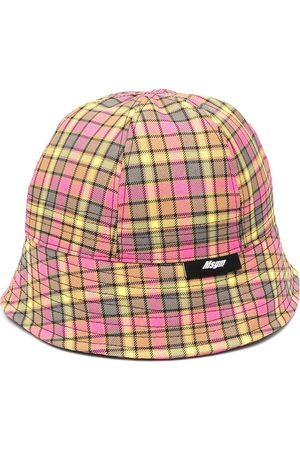 Msgm Check print bucket hat