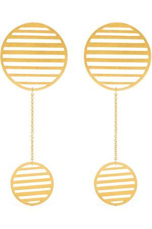 HSU JEWELLERY LONDON Flowing double-circle earrings