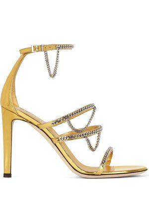 Giuseppe Zanotti Women Sandals - Metallic chain-trim sandals