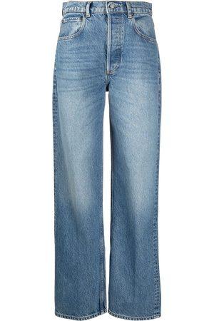 BOYISH DENIM Wide-leg high-waisted jeans