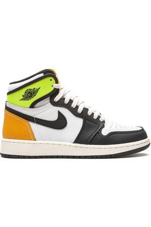 """Nike Kids Air Jordan 1 Retro High """"Volt Gold"""" sneakers"""