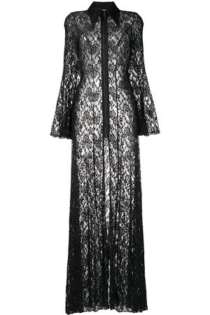 Natasha Zinko Women Printed Dresses - Floral-lace zip-up maxi dress