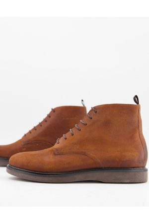 H by Hudson Men Boots - Troy lace up boots in waxed leather
