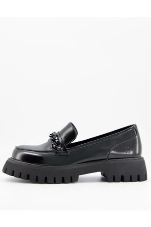 Koi Footwear Men Loafers - Vegan chunky loafers with chain detail in