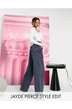 ASOS High rise 'worker' jeans in washed