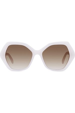 Céline 56MM Plastic Hexagonal Sunglasses