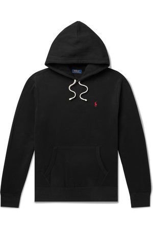 Polo Ralph Lauren Logo-Embroidered Fleece-Back Cotton-Blend Jersey Hoodie