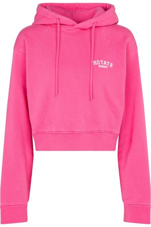 ROTATE Viola cropped cotton hoodie