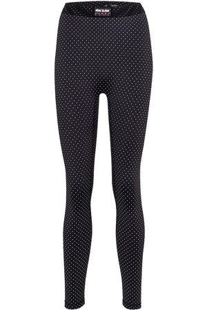 Adam Selman Sport Bonded polka-dot mid-rise leggings