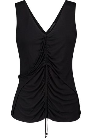 Helmut Lang Scala ruched jersey tank top