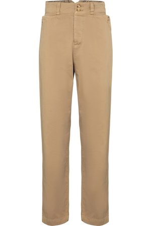 Etro High-rise cotton carrot pants