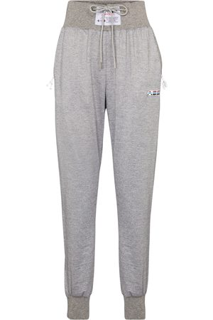 Adam Selman Sport High-rise metallic trackpants