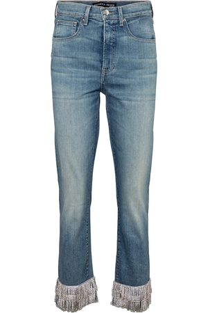 VERONICA BEARD Ryleigh embellished high-rise skinny jeans