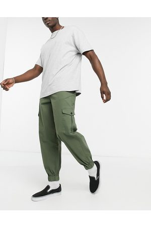 ASOS Tapered cargo trousers in khaki