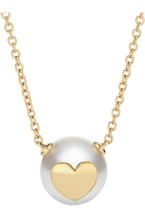 W.Rosado Pearl ID 18K Rose Gold & 11.5-12MM Pearl Carved Heart Necklace