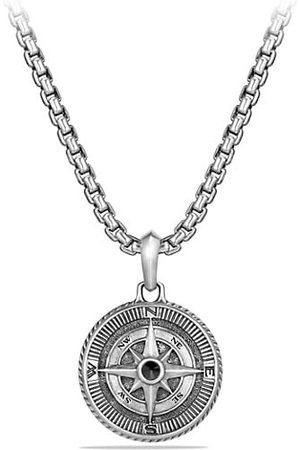 David Yurman Maritime Sterling & Black Diamond Compass Amulet