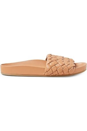 Loeffler Randall Sonnie Woven Footbed Leather Sandals