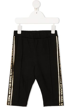 Balmain Girls Pants - Side-stripe track pants