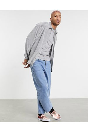 ASOS 90s oversized casual shirt in marl velour
