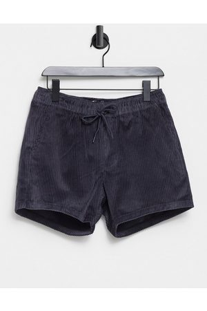 ASOS Shorter shorts in charcoal cord